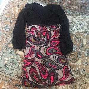 Trina Turk Black and Patterned Dress